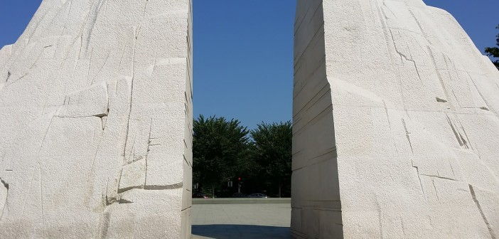 Stock photo of the rear of the Martin Luther King Memorial in Washington, DC