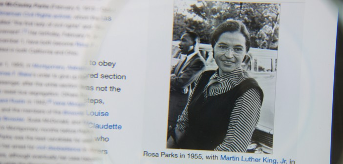 Stock photo of of Rosa Parks' WIkipedia Page