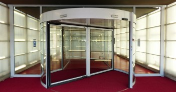 Stock photo of a revolving door