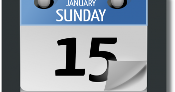 A day-by-day calendar. It is Sunday, January 15