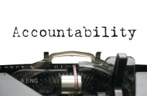 """Image of the word """"Accountability"""" written on a typewriter"""
