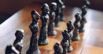 photo of pieces on a chess board