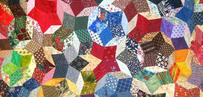Stock photo of a quilt