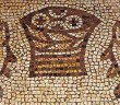 Stock photo of a mosaic of loaves and fishes