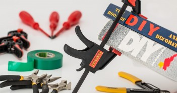 Stock photo of a bunch of home renovation tools