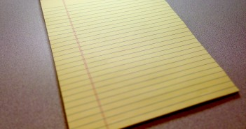Stock photo of a blank yellow legal pad