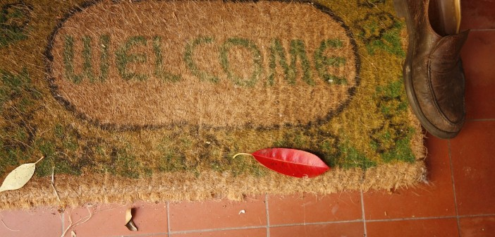 Stock Photo of a Welcome Mat