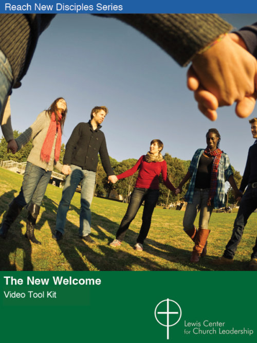 The New Welcome Video Tool Kit cover featuring a group of young people holding hands in a circle in a park