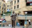 Stock photo of Nelson Mandela Square and a statue of Nelson Mandela