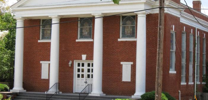 Street view of Porter Memorial Baptist Church in Columbus, Georgia