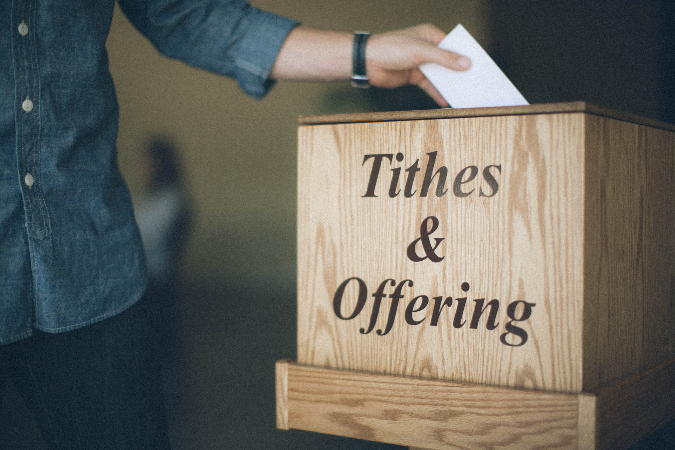 Image result for picture of a tithe box