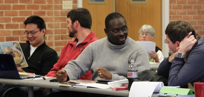 Photo of Clementa Pinckney in one of his DMin classes