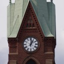 stock photo of steeple with clock