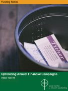 Optimizing Annual Financial Campaigns Video Tool Kit cover featuring tithing envelopes in a pail