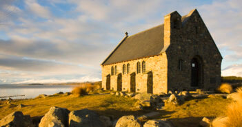Evening light on a small church. Credit: David Clapp/Arcaid Picture Library/Universal Images Group