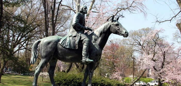 Statue of John Wesley on horseback