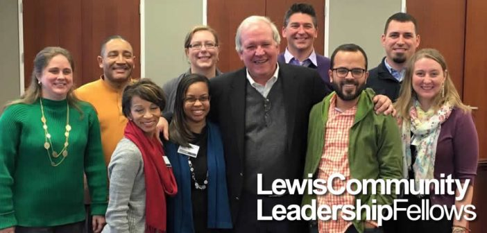 Photo of a smiling group of Lewis Community Leadership Fellows