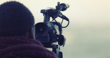 Photo of a videographer