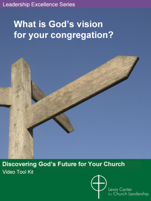 Cover of Discovering God's Future for Your Church showing a blank wooden signpost