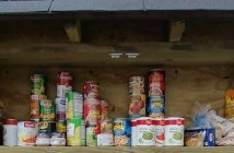 Photo of food cans in a blessing box