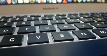 Photo of a laptop keyboard. Transitions.