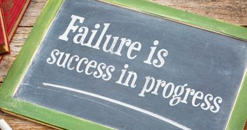 "Chalk drawing of ""Failure is success in progress"""