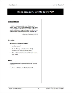 In God's Time Session 1 Participant's Guide sample