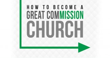 "Stylized text: ""How to become a Great ComMISSION church"""