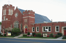Photo of a large church building
