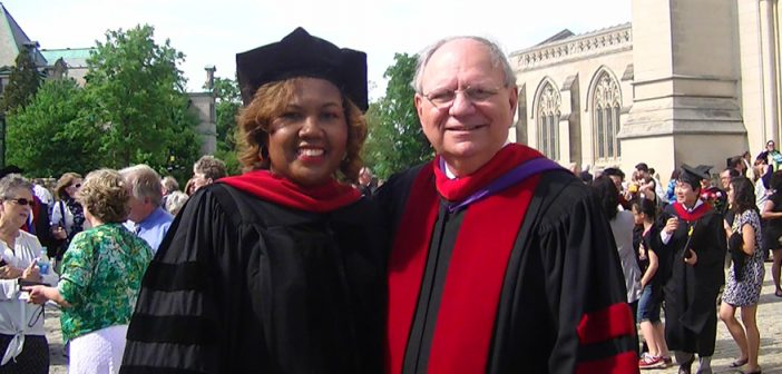 Photo of D.Min. grad and Dr. Weems at commencement