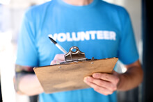 Photo of a church volunteer