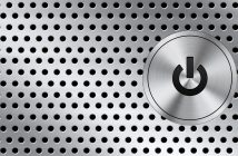 Image of a computer on-off button. (Author: PSD Graphics)