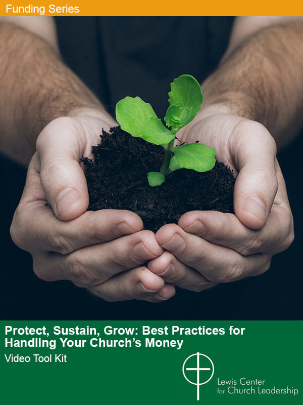 Protect, Sustain, Grow cover image featuring a person's cupped hands holding a seedling in soil