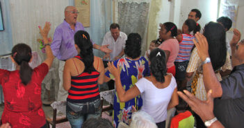 Worship service in a Latinx church