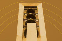 Image of a bell tower from the cover of