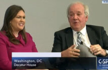 Mike McCurry and Sarah Sanders screen capture from C-SPAN