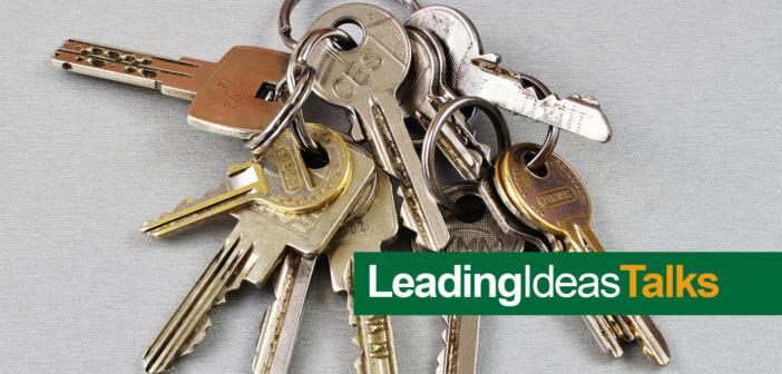 Many church keys on a key ring