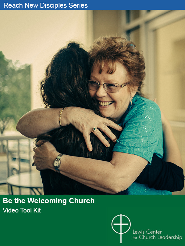 Be the Welcoming Church cover image of a smiling person warming embracing another