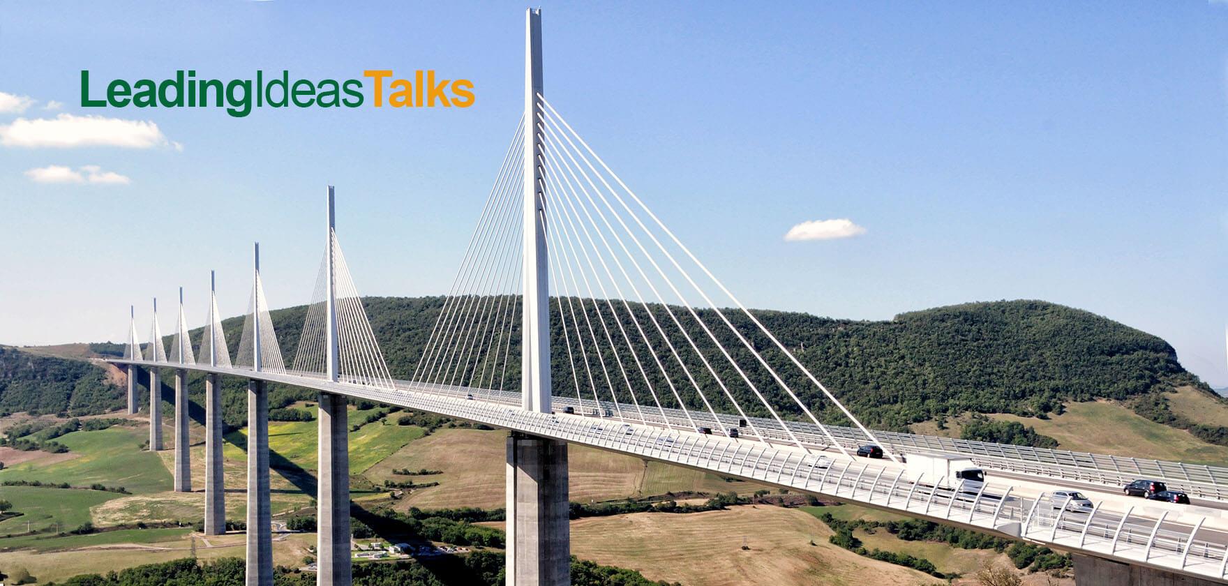 Beautiful modern suspension bridge