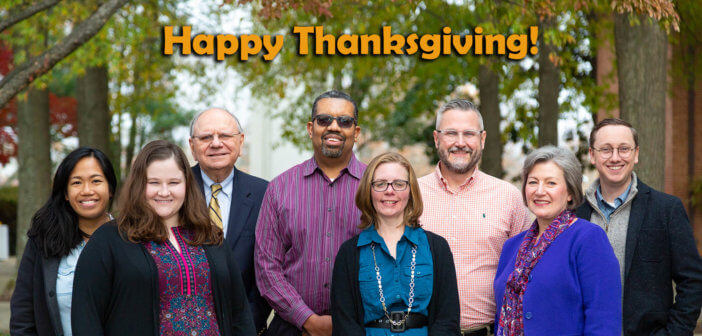 Happy Thanksgiving from the Lewis Center