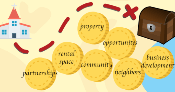 Church treasure map of partnerships, rental space, property, community, neighbors, and business development