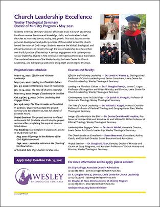 2021 Church Leadership Excellence flier (PDF)
