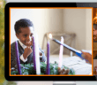 Lighting the Advent wreath on a Zoom call