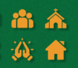 Icons representing trends impacting church leadership in 2021