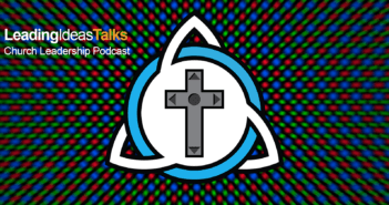 Logo with Christian cross rendered as a video game touch pad