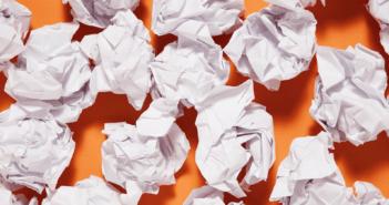 Crumpled up balls of paper