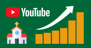 Graphic representing the growth of a church's YouTube channel
